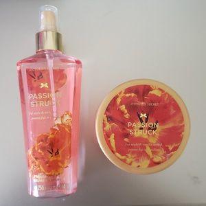 Vs spray and body cream